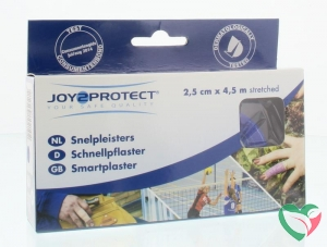 Joy2Protect Snelpleisters blauw 2.5 cm x 4.5 m