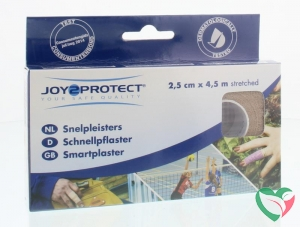 Joy2Protect Snelpleisters huidskleur 2.5 cm x 4.5 m
