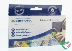 Joy2Protect Snelpleisters lila 2.5 cm x 4.5 m