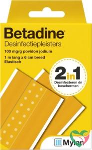 Betadine Desinfecterende pleister 1 m x 6 cm