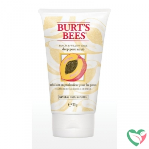 Burts Bees Gezichtscrub peach & willowbark