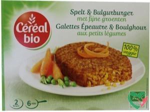 Cereal Bio Spelt & bulgur burger met fijne groenten bio