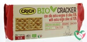 Crich Crackers olijfolie met zout rood bio