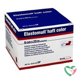 Elastomull Elastomull haft 20 m x 6 cm rood