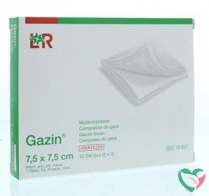 Gazin Gazin gaaskompres 7.5 x 7.5 steriel 5 x 2