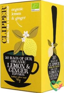 Clipper Lemon & ginger tea bio