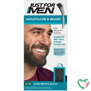 Just For Men Snor en baard donker bruin m45