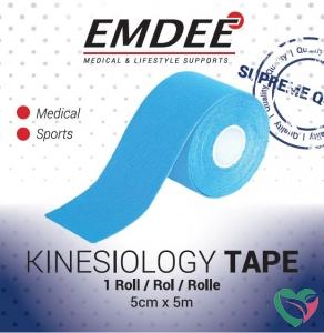 Emdee Kinesio tape licht blauw non cut