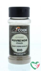 Cook Zwarte peper gemalen bio