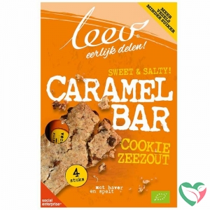 Leev Bio cookiebar karamel & zeezout