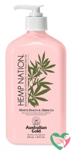 Australian Gold Hemp nation tan extender white peach hibiscus