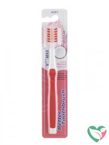 Bettertoothbrush Tandenborstel regular soft roze