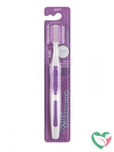 Bettertoothbrush Tandenborstel premium soft paars