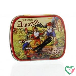 Amarelli Laurierdrop blikje munt chicchi