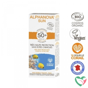 Alphanova Sun Sun creme SPF50 bij zonne-allergie en waterproof