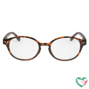 IBD Leesbril mat Havana rond +1.50