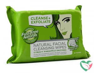 Fuss Free Nat Face wipes C+ exfoliate