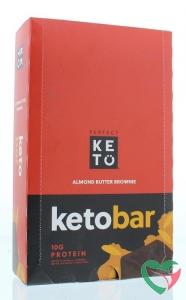 Go-Keto Keto koolhydraatarme reep brownie/almond butter