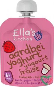 Ella's Kitchen Aardbei yoghurt griekse stijl 6+ maanden bio