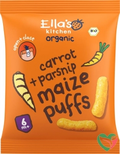 Ella's Kitchen Maize puffs carrot/parsnip 6+ maanden