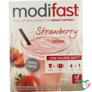 Modifast Intensive milkshake aardbei 8 zakjes