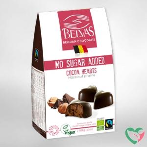 Belvas Choco hart hazelnoot praline