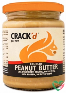 Crack'd Pindakaas crunchy organic bio