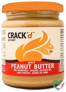 Crack'd Pindakaas spicy organic bio