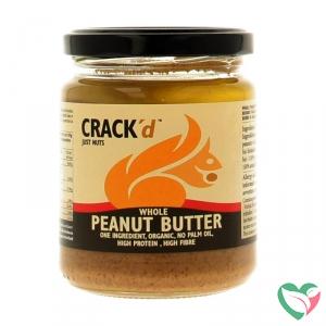 Crack'd Pindakaas met vlies organic bio