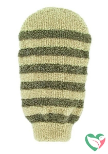 Forsters Massage handschoen gestreept linnen / katoen