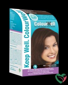 Colourwell 100% natuurlijke haarkleur donker kastanje bruin