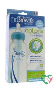 Dr Brown's Standaardfles 250 ml duo blauw options