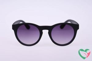 Haga Eyewear Zonnebril mat zwart rond