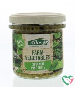 Allos Farm vegetables spinazie & pijnboompitten bio