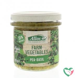Allos Farm vegetables doperwten & basilicum bio