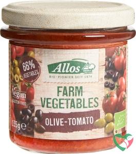 Allos Farm vegetables tomaat & olijf bio