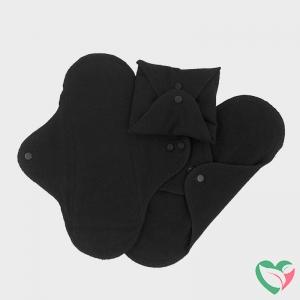 Imsevimse Maandverband wasbaar zwart mini