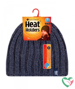 Heat Holders Mens cable hat navy one size